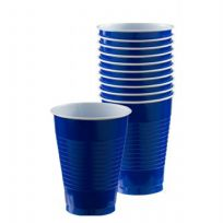 Royal Blue Plastic Cups (10)